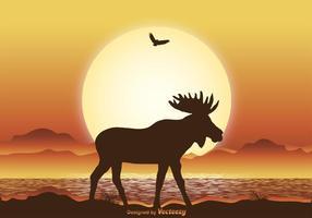 Ilustração de alces selvagens