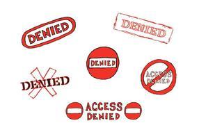 Série negativa de vetor de selo negado