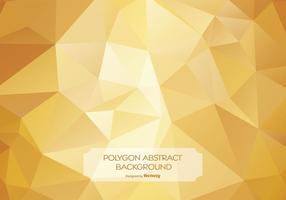Ilustração de fundo de polígono abstrato de ouro vetor