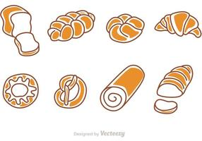 Vetores de desenhos animados de pão