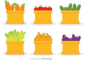 Vetor de vegetais e frutas