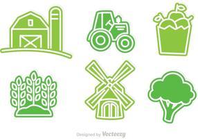 Ícones dos vetores agricultores