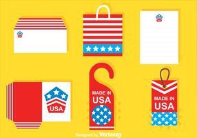 Vetores Mockup Made In Usa