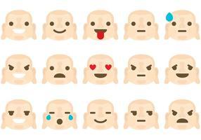 Vetores Emoticon de Buda