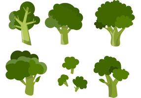 Vários vetores de brócolis
