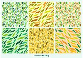 Padrões de folhas desenhadas à mão vetor