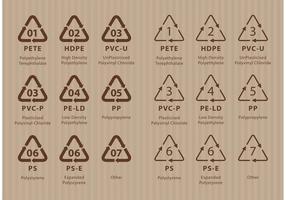Códigos de Reciclagem vetor