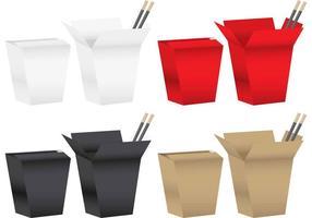 Caixas de comida chinesa vetor