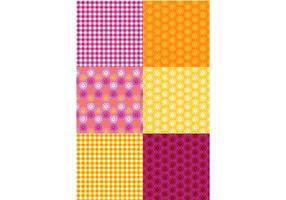 Conjunto de padrões românticos coloridos vetor