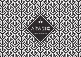 Padrão vetorial sem fio árabe grátis