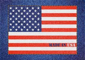 Livre feito em design de denim vetorial dos EUA vetor
