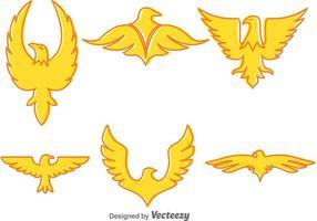 Ícones do vetor da águia dourada