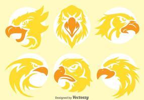 Vetores de cabeça de águia dourada