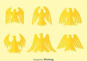 Vetores de águia dourada plana Deco