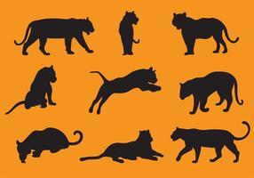 Vetores da silhueta do tigre