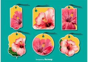 Etiquetas florais de moda vetor