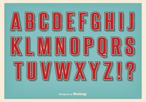 Conjunto de alfabeto estilo retro vetor