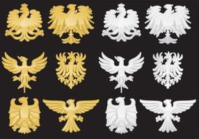 Vetores de águia heráldica