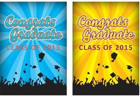 Cartões da graduação vetor