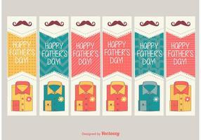 Etiquetas felizes do dia do pai vetor