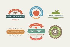 Etiquetas de cores Back To School vetor