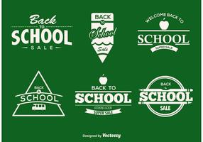 Etiquetas tipográficas de volta para a escola vetor