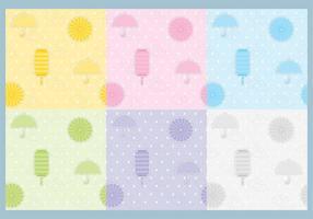 Vetores de padrões de guarda-chuva e lanterna