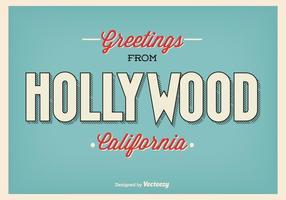Ilustração de saudação Vintage Hollywood vetor