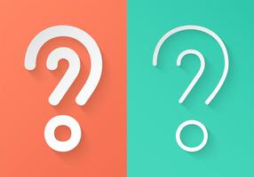 Pontos de interrogação do Livro Branco de vetor livre