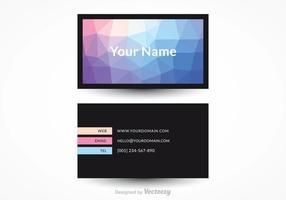 Design de vector de cartão de visita moderno gratuito
