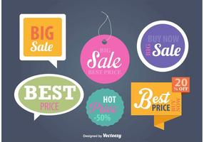 Modelos de sinais de preços e publicidade vetor
