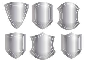 Conjunto de vetores de forma de escudo