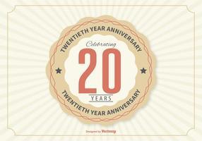 Ilustração do aniversário do vigésimo ano vetor