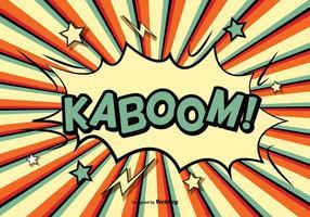 Ilustração kaboom comic style