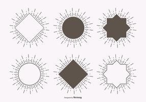 Conjunto de etiquetas de Ray Light Light vetor