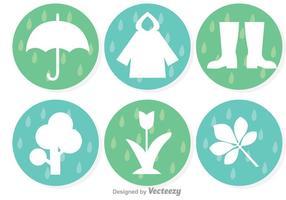Ícones das chuvas de primavera vetor