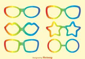 Vetores de óculos de sol arco-íris