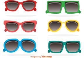 Óculos de sol coloridos dos anos 80 vetor