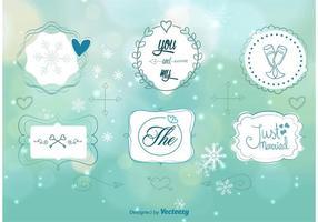Ornamento de casamento de inverno vetor