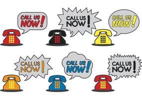 Ligue-nos agora vetores de telefone