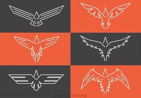 Logotipos de falcão simétrico