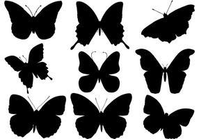 Vetor livre da silhueta da borboleta