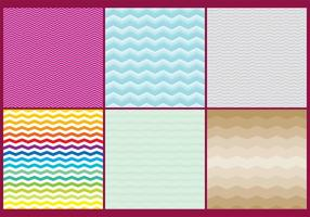 Vetores coloridos de padrões Zig Zag