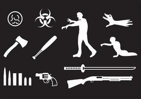 Ícones do zombi vetor