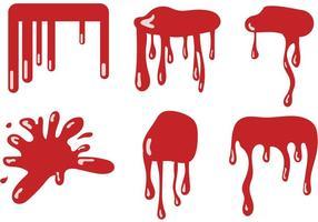 Conjunto de vetores com gotejamento sanguíneo