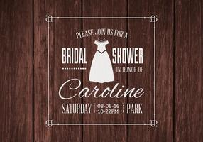 Convite livre do casamento do chuveiro nupcial vetor