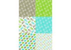 Conjunto de padrões de natureza verde