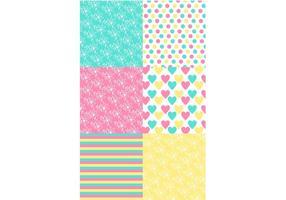 Conjunto de padrões de crianças coloridas vetor