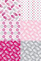 Conjunto de padrões florais dos namorados