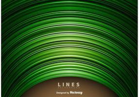 Fundo abstrato de linhas verdes vetor